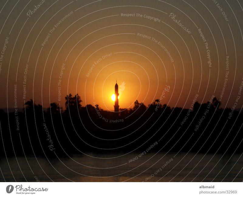 Sonnenuntergang in Ägypten Ferien & Urlaub & Reisen Zufriedenheit Moschee Afrika Nil