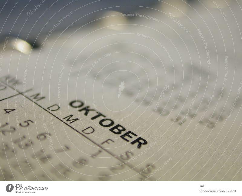 Oktober Kalender Woche Monat Ringbuchordner Papier Zeit Jahr Makroaufnahme Graffiti Druck