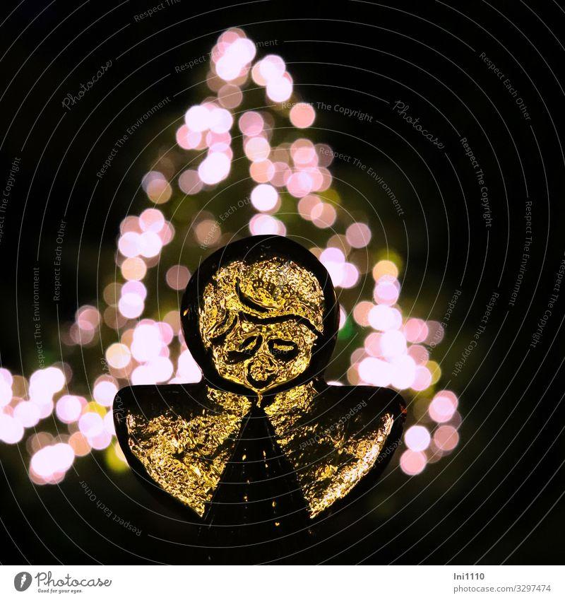 Engel aus Glas I harmonisch Erholung Häusliches Leben Garten Dekoration & Verzierung Weihnachten & Advent mehrfarbig schwarz weiß Tanne Licht Lichtpunkt