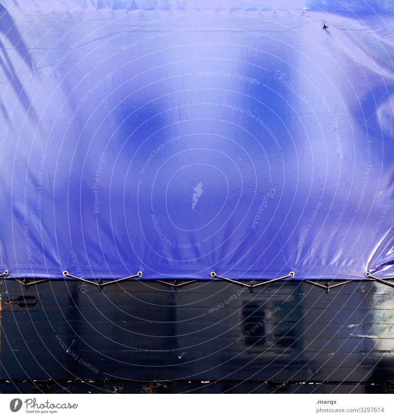 Gespannte Spiegelung Plane Verkehrsmittel Güterverkehr & Logistik Lastwagen Anhänger Abdeckung Mobilität Dienstleistungsgewerbe Mittelstand Wirtschaft Handel