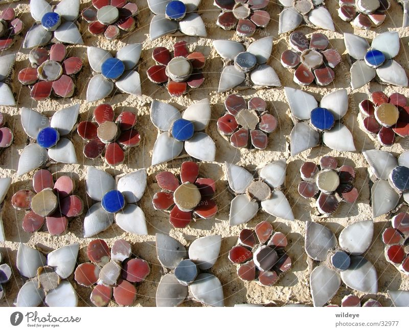Blumen Mosaik Pagode Bangkok obskur Fliesen u. Kacheln Königspalast