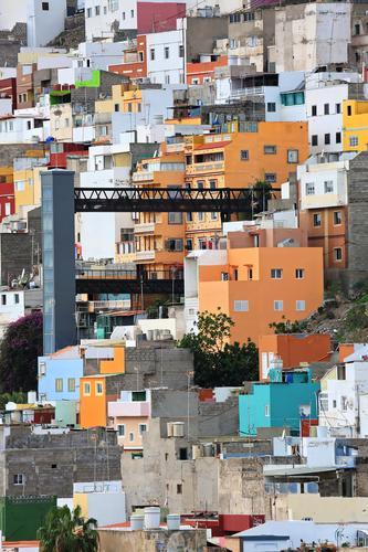 Las Palmas de Gran Canaria Sommer blau Stadt schön Sonne Wolken Architektur Tourismus Ausflug Wetter Europa Insel historisch Sehenswürdigkeit Wahrzeichen