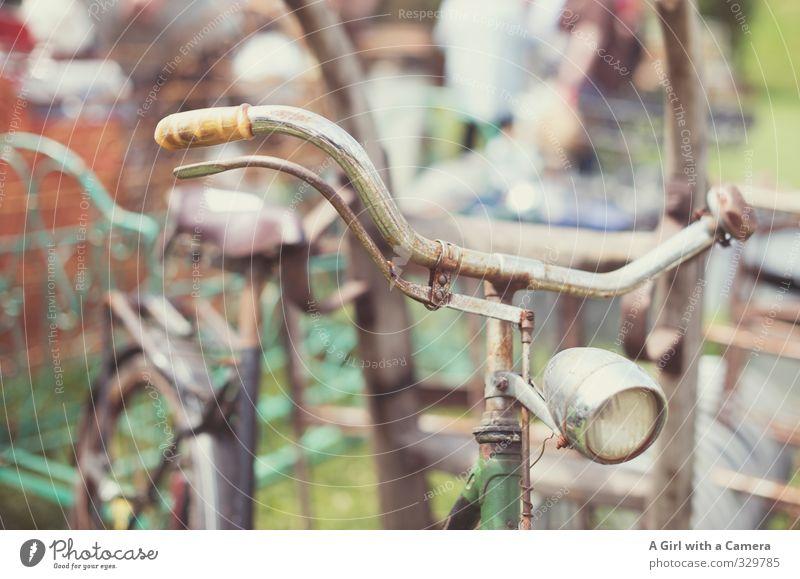 trash bike alt Fahrrad Armut retro Rost parken Oldtimer Lenker