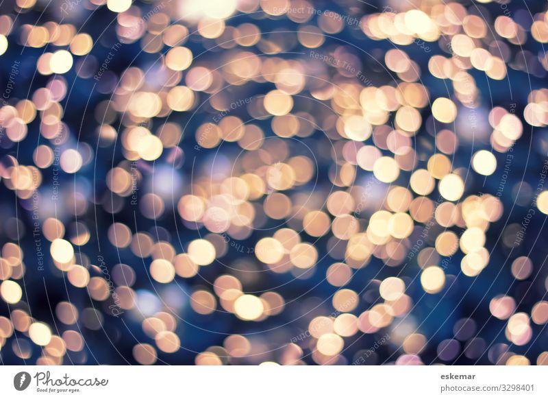 Bokeh abstrakter Hintergrund niemand Licht Lichter Lichtpunkte Weihnachten weihnachtlich Textfreiraum festlich Dekoration & Verzierung Weihnachtsdekoration