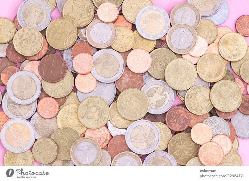 Geld Wallach Münzen Euro viel viel Geld Reichtum finanzieren Währung Business Wirtschaft Einkommen Gewinn Kapital kosten kredit viele verschiedene sparen fonds