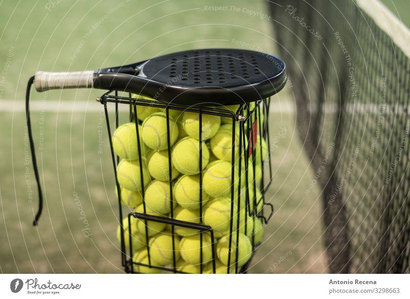 Klasse Spielen Sport sportlich anstrengen Padel Paddeltennis Schulklasse Training Netz Ball Remmidemmi Paddel-Tennis keiner wirft Spieler üben Menschen