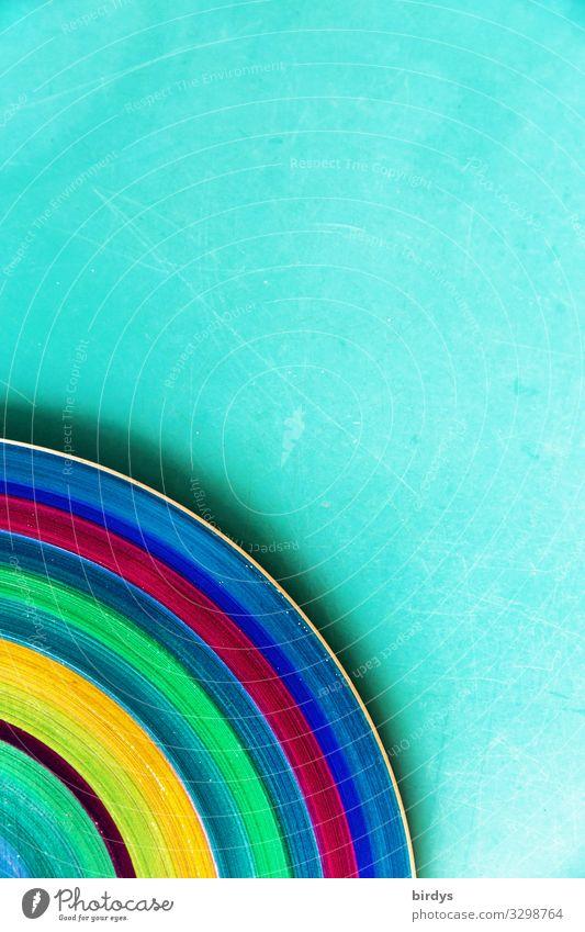 bunt Farbe schön Hintergrundbild Dekoration & Verzierung Linie ästhetisch Kreativität Freundlichkeit Teile u. Stücke türkis positiv Teller Geometrie