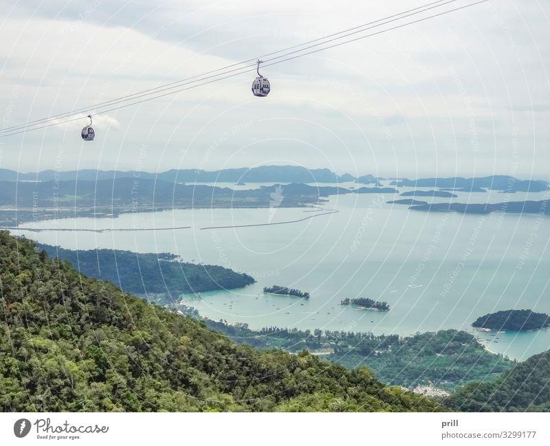 Langkawi Cable Car Sommer Berge u. Gebirge Urwald Hügel Bahnhof Schwebebahn Seilbahn Fahrstuhl authentisch langkawi skycab langkawi cable car insel langkawi