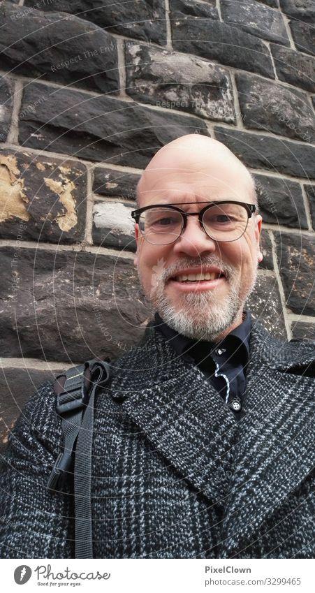 Grauer Mann Mensch Freude Gesicht Lifestyle Erwachsene lachen Glück Stil Kopf grau Stimmung Zufriedenheit maskulin Körper 45-60 Jahre