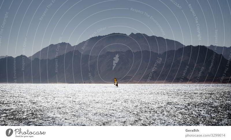 Surfer-Fahrten im Roten Meer in Ägypten Dahab Ferien & Urlaub & Reisen Tourismus Sommer Insel Wellen Berge u. Gebirge Sport Mann Erwachsene Natur Landschaft