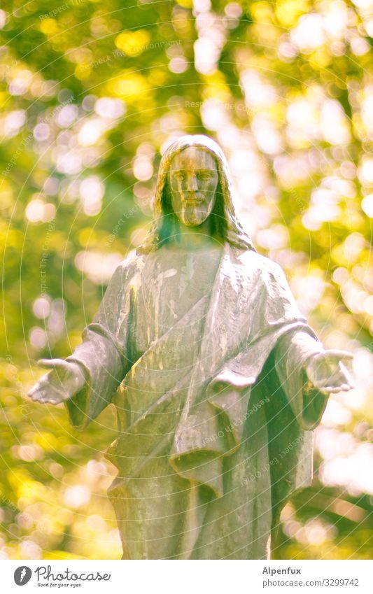 Christi Himmelfahrt maskulin Mann Erwachsene 1 Mensch 60 und älter Senior Skulptur außergewöhnlich Freundlichkeit historisch Glück Optimismus Mut Leidenschaft