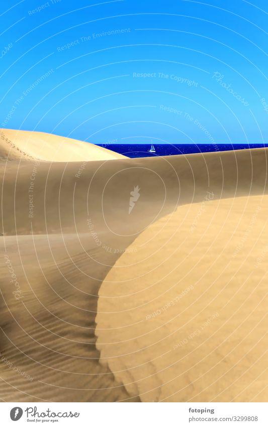 Playa Del Inglés Ferien & Urlaub & Reisen Natur Sommer blau schön Wasser Landschaft Sonne Meer Strand Tourismus Wasserfahrzeug Sand Ausflug Wetter Wellen