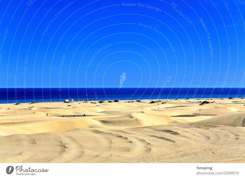 Playa Del Inglés schön Ferien & Urlaub & Reisen Tourismus Ausflug Sommer Sonne Strand Meer Insel Wellen Natur Landschaft Sand Wasser Wetter Wind Wüste