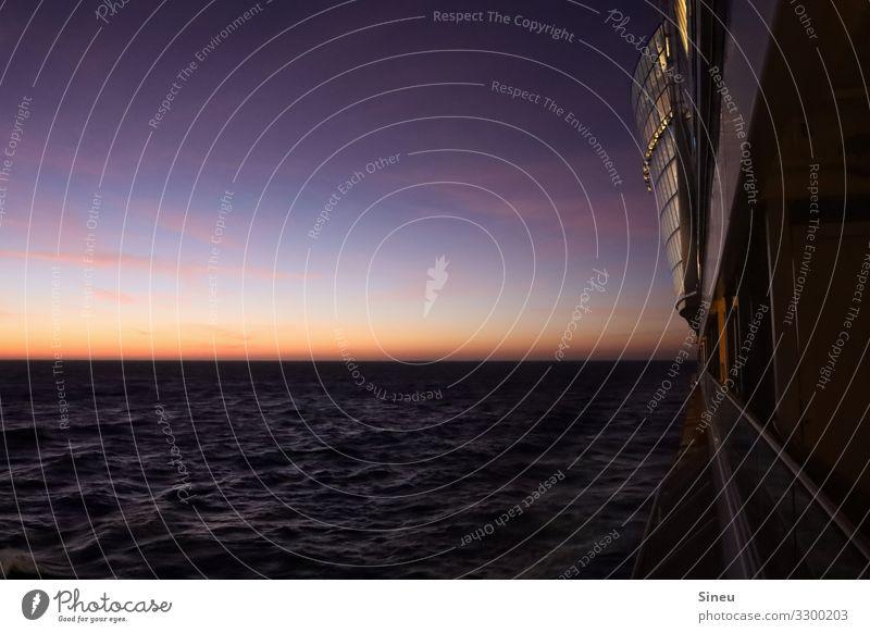Sunrise Natur Urelemente Wasser Himmel Nachthimmel Horizont Sonnenaufgang Sonnenuntergang Schönes Wetter Meer Atlantik Kreuzfahrt Kreuzfahrtschiff Ferne