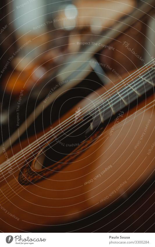 Nahaufnahme Gitarrensaiten Lifestyle ästhetisch einfach Originalität Bildung Entschlossenheit Freizeit & Hobby Idee Inspiration Kreativität Kunst Schule