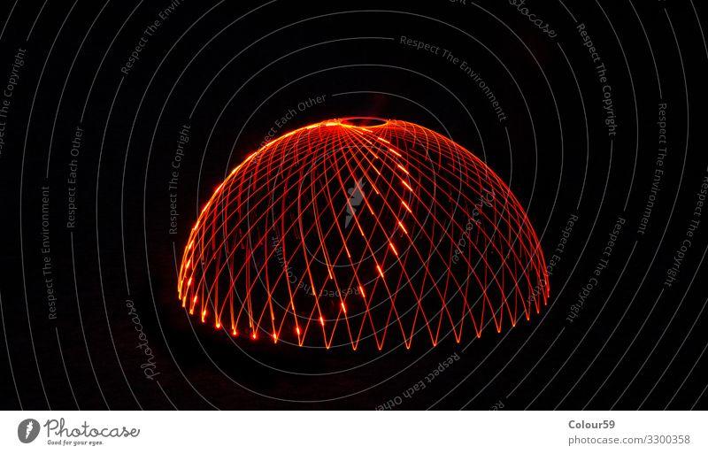Magische Lichtmalerei Design Weihnachten & Advent Dom Linie leuchten Hintergrundbild Grafik u. Illustration Illumination rot lightpainting dome schwarz struktur