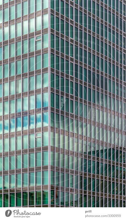 modern house facade Haus Hochhaus Bauwerk Gebäude Architektur Fassade glänzend Sauberkeit rein Bürogebäude glas Glasfassade fenster ausschnitt formatfüllend