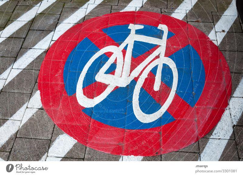 Absolutes Fahrradhalteverbot Halteverbot Verbotsschild Verkehrszeichen Asphalt Linien Schilder & Markierungen Verkehrsschild Parkverbot Zeichen Streifen StVO