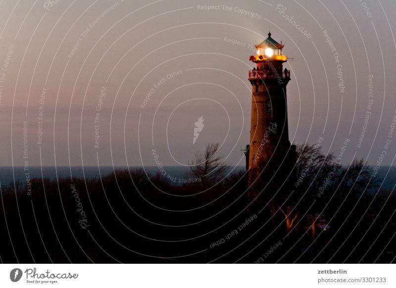 Leuchtturm Kap Arkona Abend arkona Dorf dunkel Fischerdorf Insel Küste Küstenwache Landschaft Mecklenburg-Vorpommern Meer Nacht Ostsee Ostküste Rügen