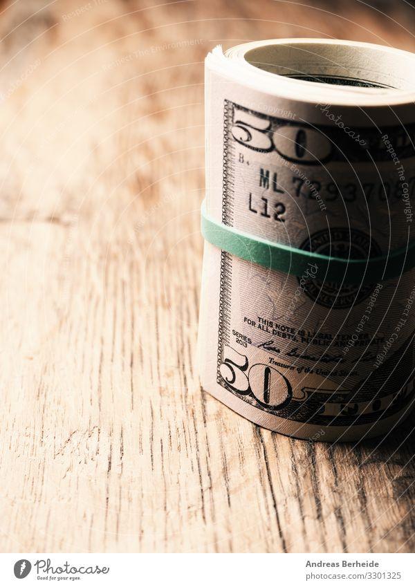 Dollar banknotes on a wooden table Freude Business Geld Liebe Erfolg Reichtum Sicherheit abundance america american bank cards banking Geldscheine cash coin
