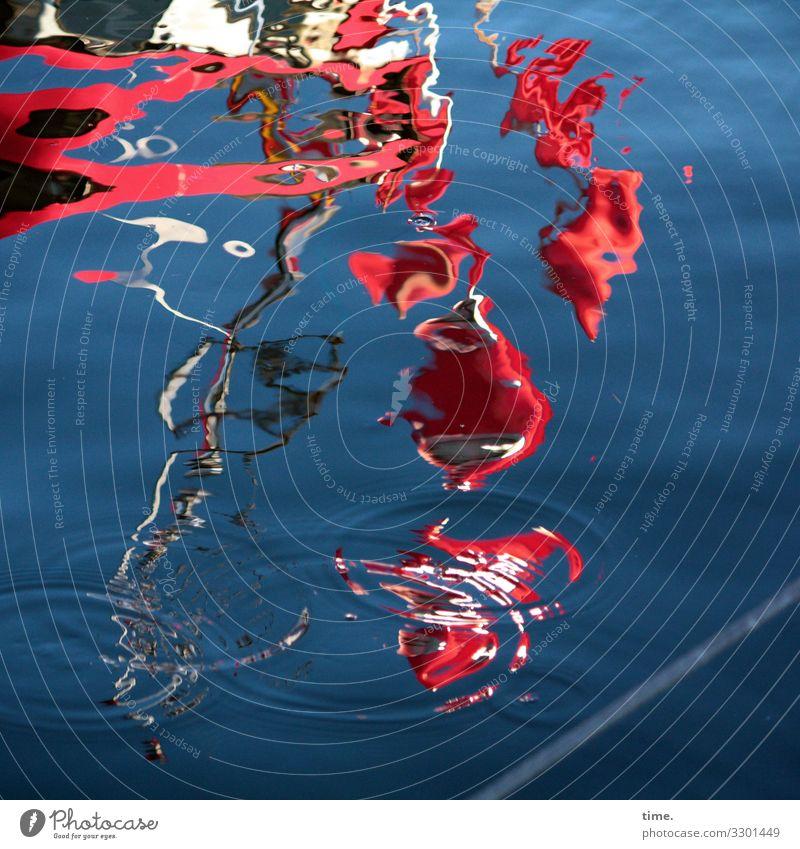 Zitterpartie (2) Wasser Himmel Schönes Wetter Ostsee Schifffahrt Fischerboot Hafen Fahne Flüssigkeit blau rot Wachsamkeit Leben Neugier Überraschung träumen