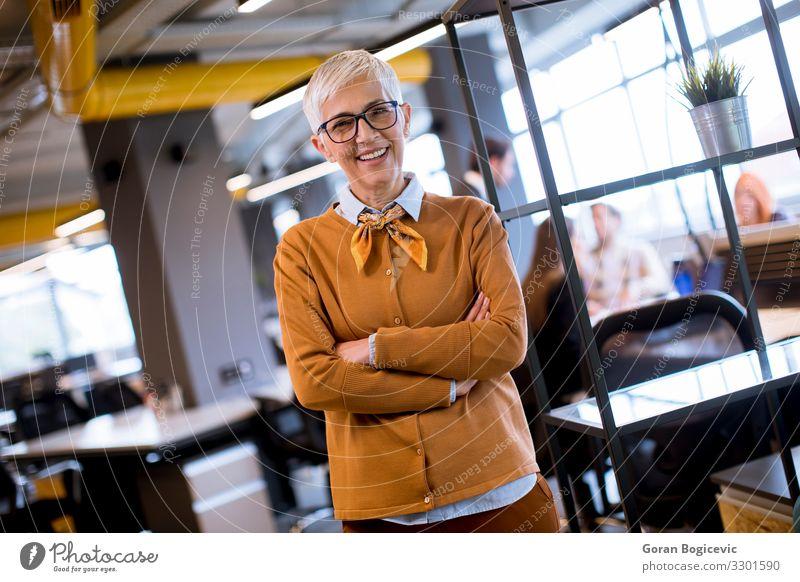 Leitende Geschäftsfrau im Amt stehend Lifestyle Erfolg Arbeit & Erwerbstätigkeit Arbeitsplatz Büro Business Unternehmen Mensch feminin Frau Erwachsene