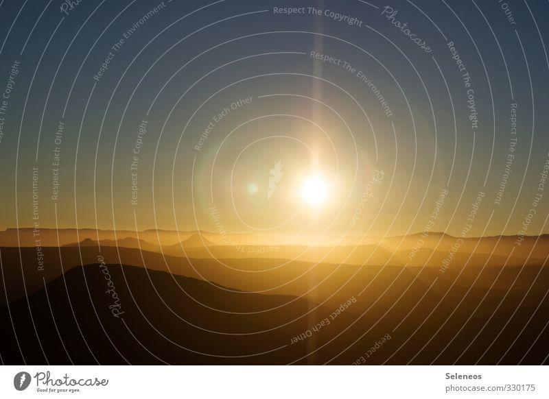 Guten Morgen Welt Himmel Natur Ferien & Urlaub & Reisen Sommer Sonne Erholung Landschaft Ferne Berge u. Gebirge Umwelt Wärme Freiheit Horizont Tourismus frei