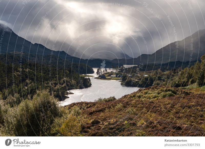 Aussicht über den Glen Affric Ferien & Urlaub & Reisen Tourismus Ausflug Abenteuer Ferne Freiheit Berge u. Gebirge wandern Natur Landschaft Erde Himmel Wolken