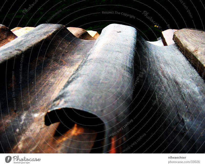 Historische Dachpfannen alt braun historisch Verschiedenheit Dachziegel