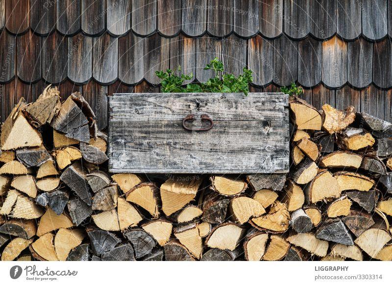 Holz vor der Hütte!!! Säge Axt Umwelt Sonne schlechtes Wetter Baum alt Stimmung Holzhütte heizen Berghütte Wärme Gemüse Ernte Österreich Bundesland Kärnten