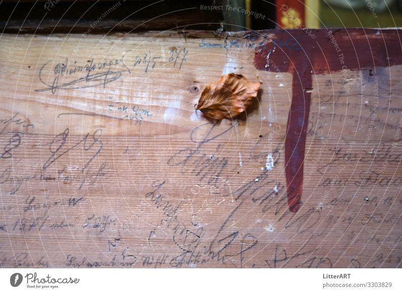 VERGÄNGLICHKEIT . VANITAS . VANITY Kunst Kunstwerk Gemälde Holz Zeichen Schriftzeichen Ziffern & Zahlen außergewöhnlich historisch braun Glaube einzigartig