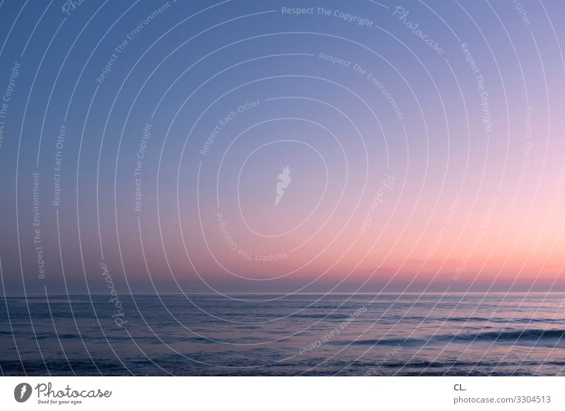 abendmeer Himmel Ferien & Urlaub & Reisen Natur Wasser Meer Erholung ruhig Umwelt Glück Zeit Freiheit Horizont Wellen Schönes Wetter Zukunft Urelemente