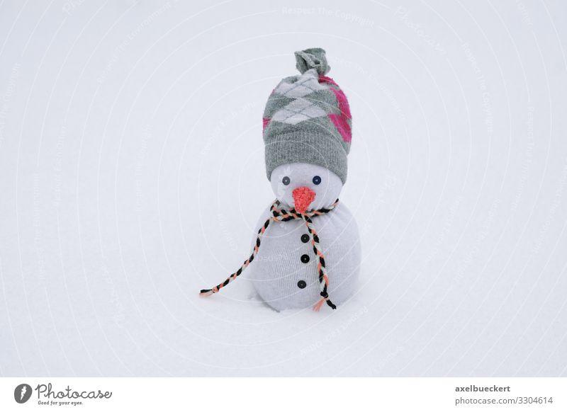 Socken Schneemann im Schnee Freizeit & Hobby Winter Klima Wetter Strümpfe Schal Mütze außergewöhnlich lustig Kreativität Handarbeit Dekoration & Verzierung