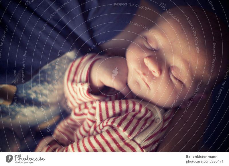 auf den Arm genommen Mensch ruhig Erholung Wärme Senior Leben Zufriedenheit Baby Wachstum Beginn Warmherzigkeit schlafen niedlich gut rein Vertrauen
