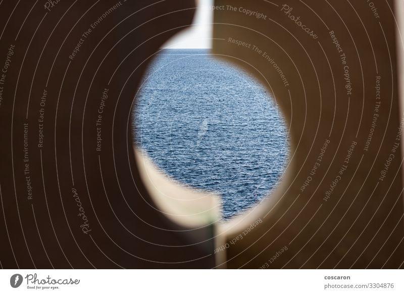 Himmel Ferien & Urlaub & Reisen Natur alt Sommer blau schön Landschaft Meer Wolken Einsamkeit ruhig Strand Umwelt Küste Stein