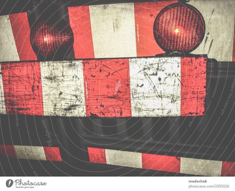 Absperrung Schließung Gefahr Sicherheit Ordnung geschlossen Verordnung Kontrolle Behörden Verkehr Baustelle Bauzaun Schutz Zaun Strukturen & Formen Verbote