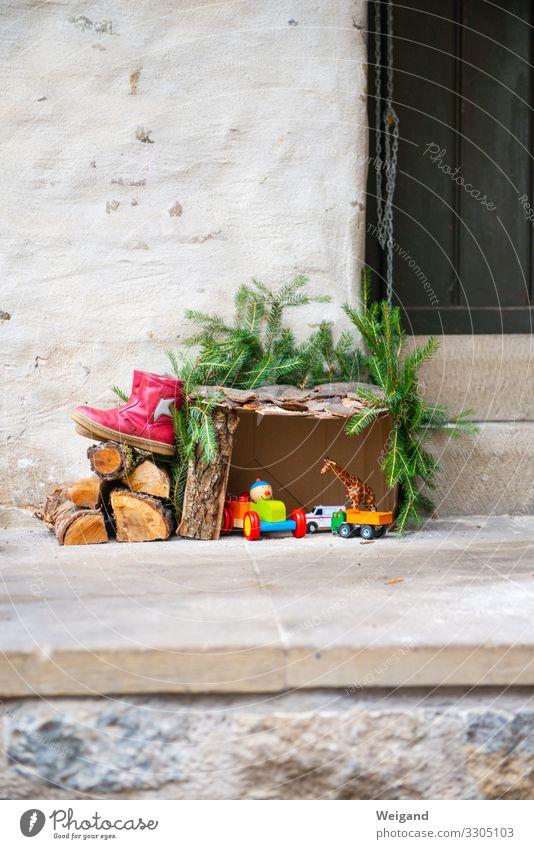 Kirppe Häusliches Leben Wohnung Weihnachten & Advent Feste & Feiern Weihnachtskrippe Farbfoto Textfreiraum oben Schwache Tiefenschärfe