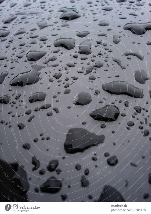 drips schlechtes Wetter Regen ästhetisch elegant nass schwarz bizarr einzigartig Klima Netzwerk Ordnung Perspektive Symmetrie Wassertropfen Pfütze Farbfoto