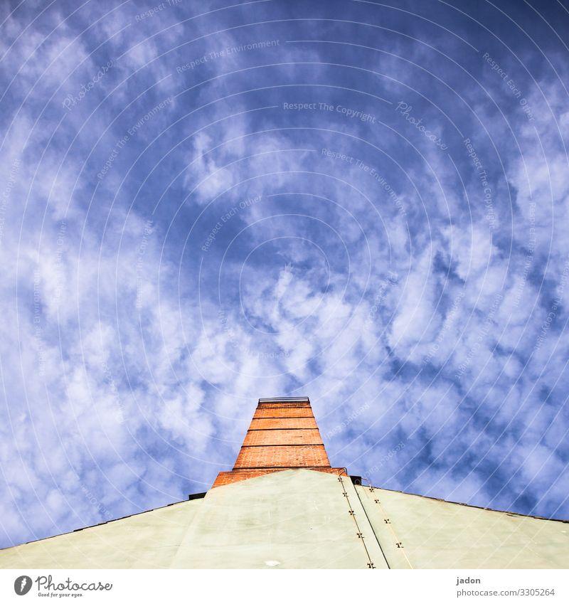 oh himmel! Himmel blau Haus Wolken Ferne Architektur Wand Umwelt Stil Gebäude Mauer Stein Luft Schönes Wetter Skyline Bauwerk