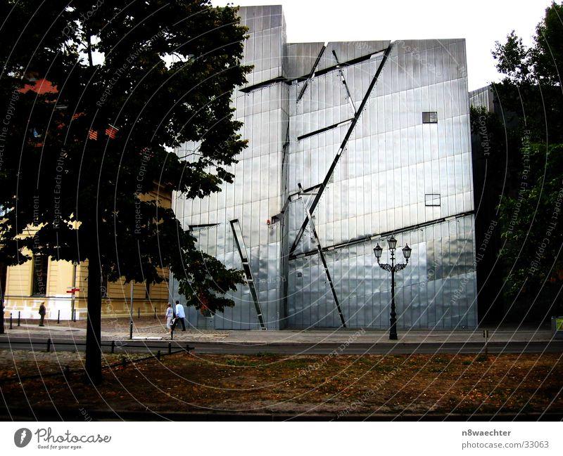 Jüdisches Museum Berlin Baum Blatt Kunst Architektur modern Laterne Vergangenheit silber
