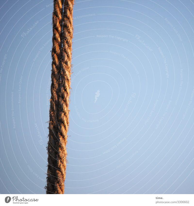 Seilschaften #18 Himmel nackt Zusammensein Linie leuchten Kommunizieren Kraft Schönes Wetter Baustelle entdecken planen Schutz Sicherheit Team Zusammenhalt
