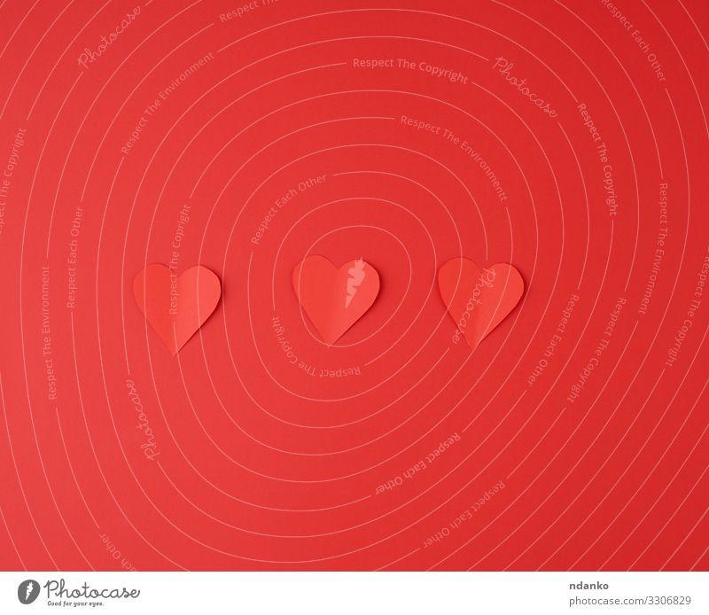 aus rotem Papier ausgeschnittene Herzen Stil Design schön Dekoration & Verzierung Valentinstag Hochzeit Geburtstag Sammlung Liebe einfach Gefühle Leidenschaft