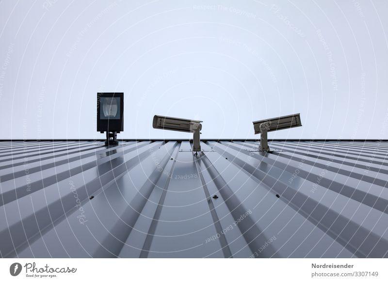 Überwachung Arbeitsplatz Industrie Videokamera Technik & Technologie Informationstechnologie Stadt Menschenleer Industrieanlage Bauwerk Gebäude Architektur