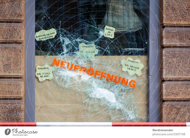 Neueröffnung Stadt Haus Fenster Wand Gebäude Mauer Dekoration & Verzierung Glas kaputt Baustelle Stadtzentrum Wut Dienstleistungsgewerbe Ladengeschäft Handwerk