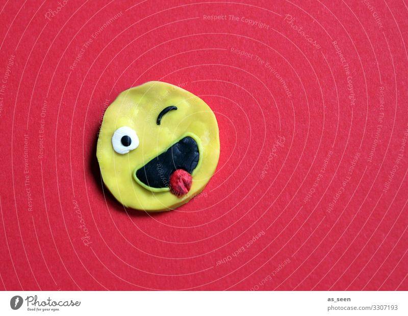 LOL rot Freude Gesicht gelb lachen Schule Design hell leuchten Fröhlichkeit Kreativität Coolness Jugendkultur Zeichen rund Bildung
