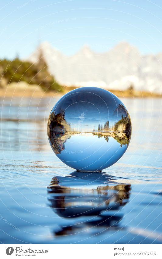 Eiszeit | auf Eis gelegt harmonisch ruhig Meditation Ferien & Urlaub & Reisen Winter Winterurlaub Berge u. Gebirge Frost Dachstein Spiegelsee Glaskugel