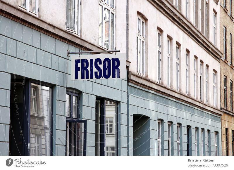 frisor Körperpflege Haus Friseur Handwerk Stadt Gebäude Fassade Fenster Schilder & Markierungen laden schild werbung Werbeschild Ladengeschäft Ladenfront