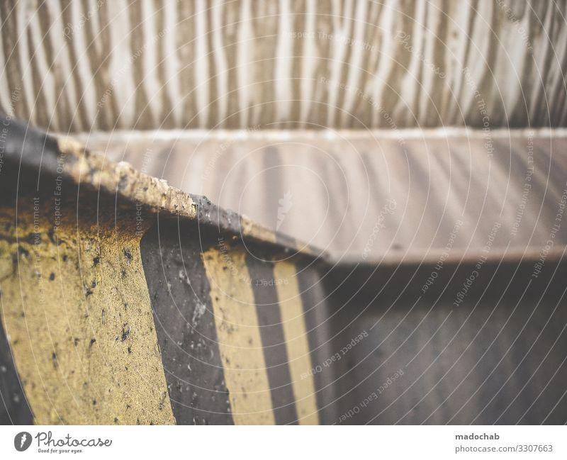Patina Muster Dreck alt schmutzig trashig Streifen Rost Verfall Strukturen & Formen Metall Vergänglichkeit Linie Detailaufnahme abstrakt Gedeckte Farben kaputt