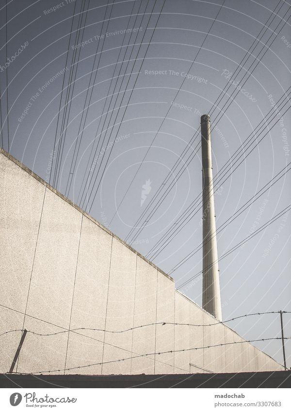 #3 Industrie Energiewirtschaft Technik & Technologie Erneuerbare Energie Turm Bauwerk Gebäude Architektur Kamin Ende Endzeitstimmung Leistung Elektrizität