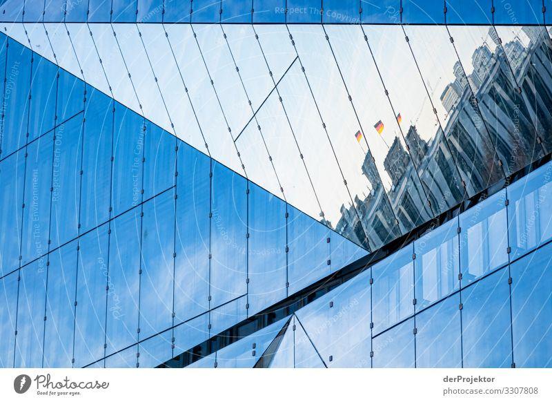 Reichstag in einer Spieglung eines Neubaus Ferien & Urlaub & Reisen Tourismus Ausflug Sightseeing Städtereise Bauwerk Gebäude Architektur Sehenswürdigkeit